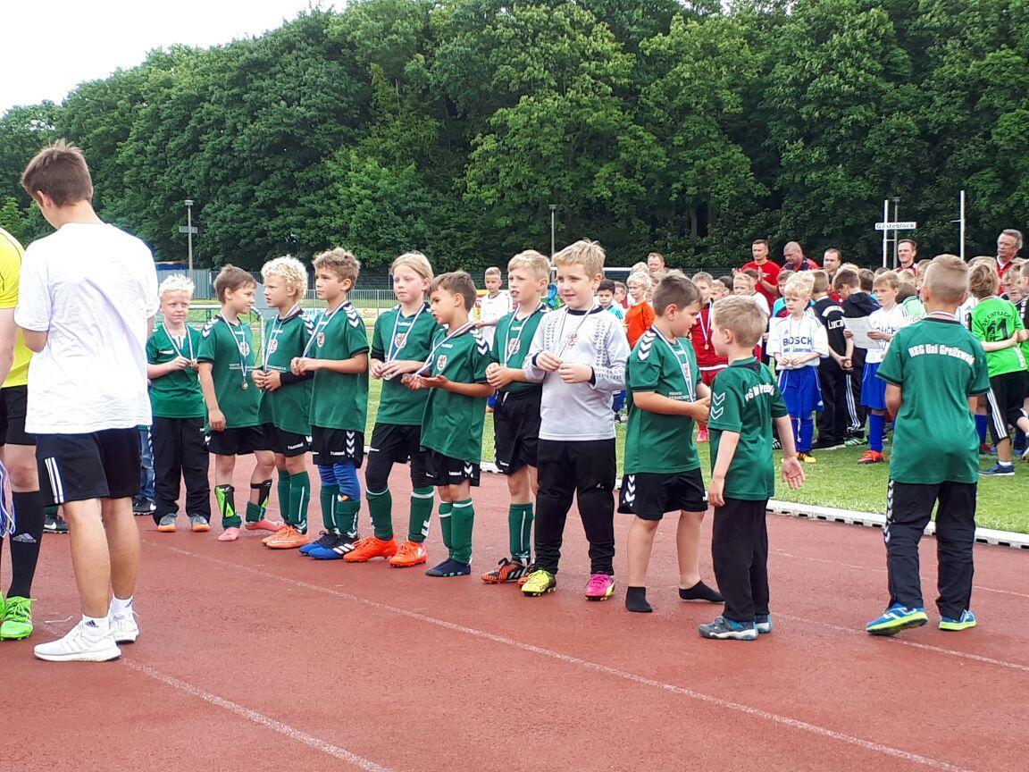 3. Platz der F-Junioren beim Kreispokal